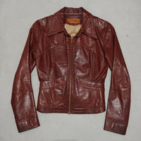 70s OSHWAHKON Craft Leather Jacket