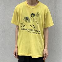 90s School norse Print tee YEL