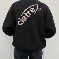 ciatre tilt logo knit sweater BLK