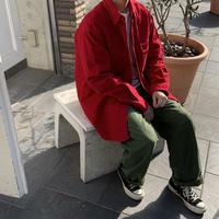 80s~ L.L.Bean L/S Work Shirt RED