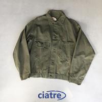 50s- WEARWELL herringbone work jacket
