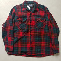 60s Pendleton Wool Check Shirt RED