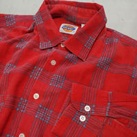 80s Dickies L/S Print Flannel Check Shirt