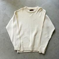 80s Eddie Bauer Cotton Knit Pullover WHT