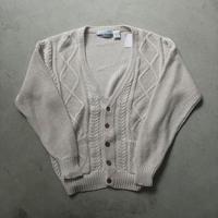 80s CLUB INTERNATIONAL Cotton Linen Knit Cardigan