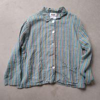 ~90s FLAX Stripe Linen Coverall