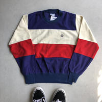 90s MUNSING WEAR Crew Neck Border Pullover