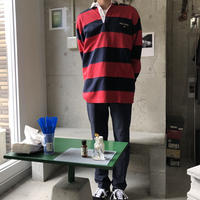 90s POLO SPORT Border L/S Rugger Shirt