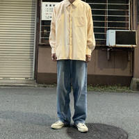 70s~domaca tvornica rublja  cotton shirt BEG