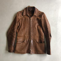 70s Natural Comfort Craft Leather Jacket
