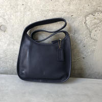 Old Coach Grab Leather Hand Bag NVY