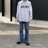 90s army sweat shirt GRY