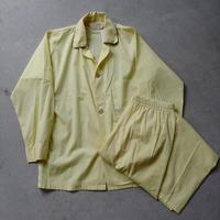 60s~ BRENT Pajama Set Up YLW