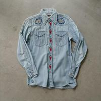 70s Wrangler L/S Chambray Western Shirt