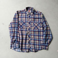 80s Dickies Print Cotton Flannel L/S Shirt