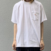 One point embroidery bird tee WHT