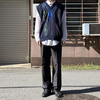 90s design knit vest NVY