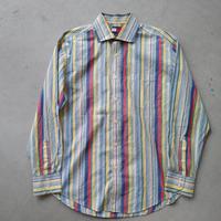 90s~ TOMMY HILFIGER Stripe L/S Shirt