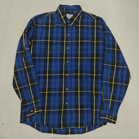 ~90s Free Fall L/S Check Shirt BLU