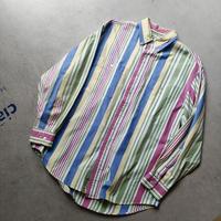 90s LANDS' END Multi Stripe L/S Shirt