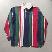 ~90s Eddie Bauer Stripe L/S Rugger Shirt