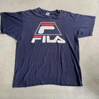 90s~ Fila  Front logo tee NVY