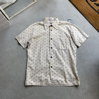 70s~ square pattern shirt BEG