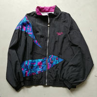 90s Reebok Nylon Zip Up Blouson BLK