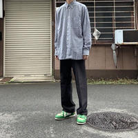 00s lacoste gingham check shirt BLU