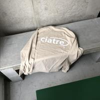 ciatre back logo tee L/S BEG