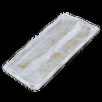 乳白 長角のり皿    く09-082-05 寸法:16.5×10×1.5H㎝ 220g
