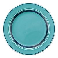 カントリーサイド オーシャンブルー 23cmミート皿    寸法:23.4φ×2.2H㎝