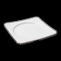 青白磁 角中丸皿    く09-034-25 寸法:11.5×11.5×1.5H㎝ 140g