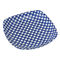 市松 正角5.5皿    く09-081-17 寸法:15×15×3H㎝ 200g
