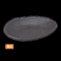 (強)黒南蛮 7.0変形刺身鉢    く09-004-17 寸法:21×16.5×3.5H㎝ 380g