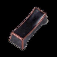 天目 枕型箸置き    く09-147-25 寸法:5.4×2.1×1.8H㎝ 30g