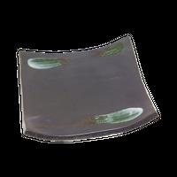 鉄結晶 タタラ型5.0正角皿    く09-061-26 寸法:15.2×15.2×2.2H㎝ 450g