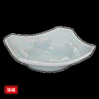 (強)青白磁 灰皿(角)大    く09-143-10 寸法:15×15×4Hcm 390g
