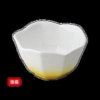 (強)黄吹(桔梗型)小鉢(小)    く09-023-08 寸法:8.5φ×5H㎝ 140g