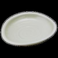 粉引 たまご大皿    く09-066-16 寸法:24.5×22×3.5H㎝ 750g