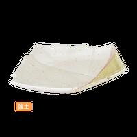 (強)緑彩半掛 7.0結形皿    く09-004-35 寸法:21.5×15.5×3H㎝ 340g