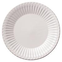 ストーリア ラスティックホワイト 27cmプレート    496-16710003 寸法:27φ×3H㎝