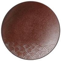 青海波27㎝ディナー(玄武)    501-29378402 寸法:D27.2×H3.2 (cm)