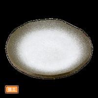 (強)伊賀白吹(渕削)9.0丸皿    く09-063-06 寸法:27.5φ×3.5H㎝ 1000g