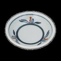 布目花絵 3.5深口丸皿    く09-085-18 寸法:11φ×2.5H㎝ 130g