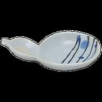 古染渦水玉 瓢型薬味皿    く09-128-35 寸法:13×9.5×3H㎝ 100g