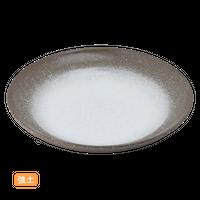 (強)伊賀白吹(段付)11.0深丸皿    く09-062-20 寸法:34φ×5.5H㎝ 1760g
