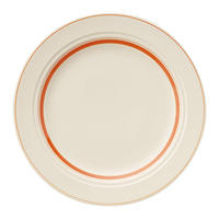 カントリーサイド ソーバー オレンジ 25.5cmディナー皿    寸法:25.6φ×2.6H㎝