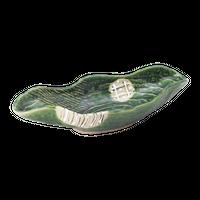 織部丸紋 舟形向付    く09-008-24 寸法:27×11.5×6.5H㎝ 450g