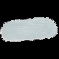 ラフィネ(菁白)木目型焼物皿    く09-044-16 寸法:30.5×14.5×2.5H㎝ 640g